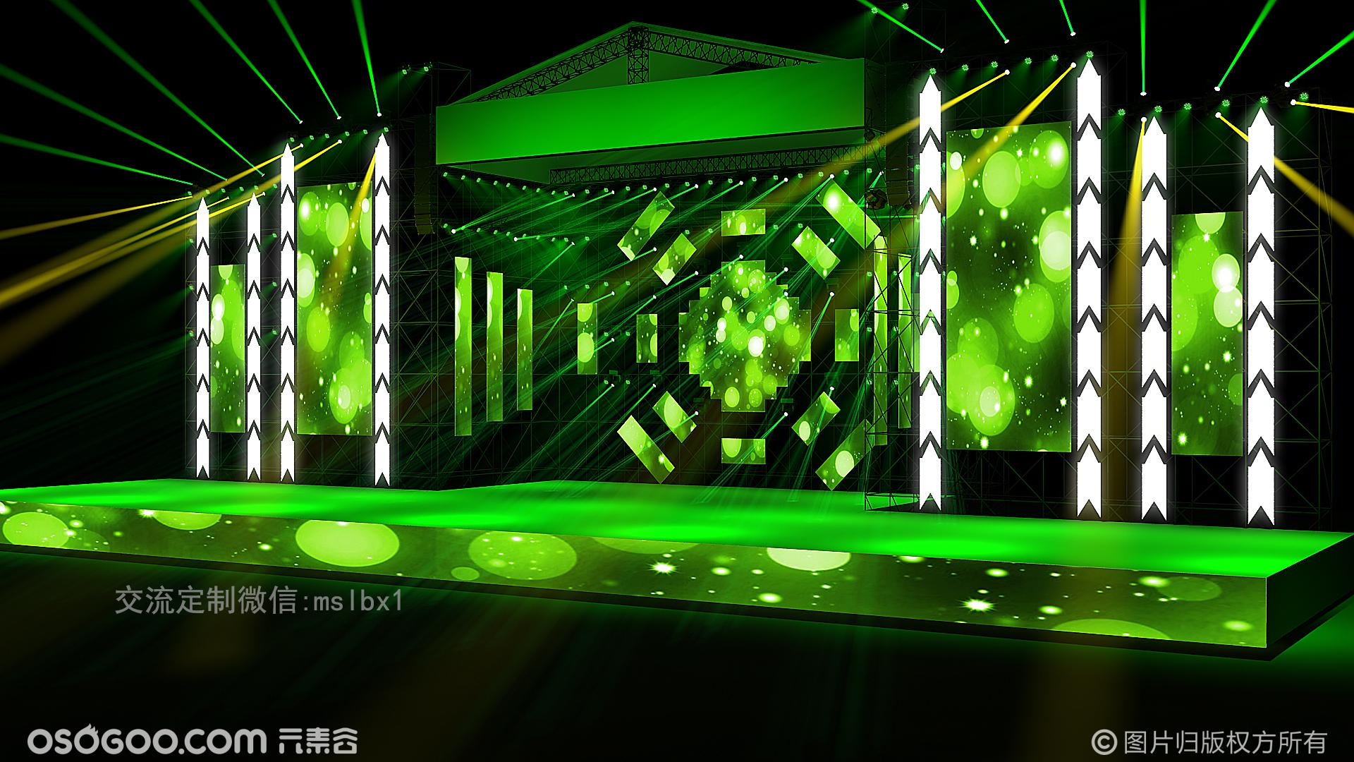 2019麦田舞美设计演唱会舞美效果图设计定制代做