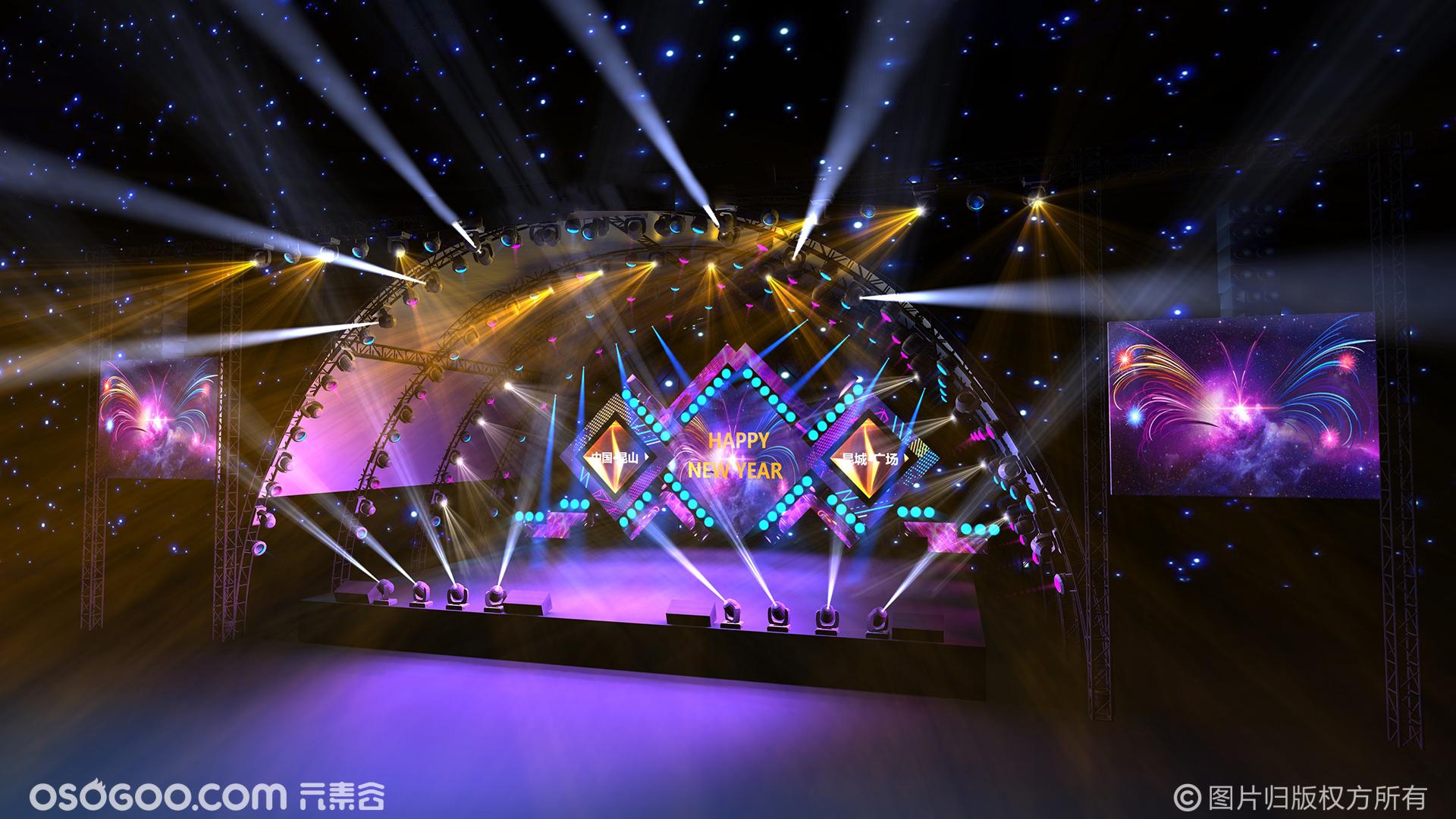 舞台效果图 舞美设计 3d效果图