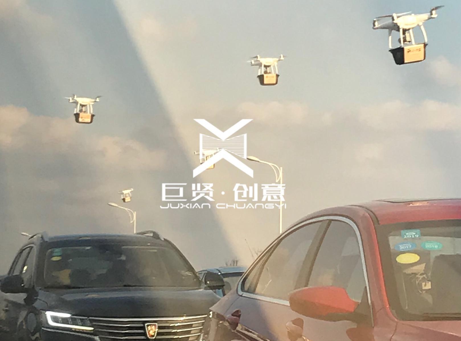 上海 ▪ 滴水湖 ▪ 集群无人机悬挂