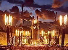 """""""火的舞台""""工业重金属乐队Rammstein演唱会"""
