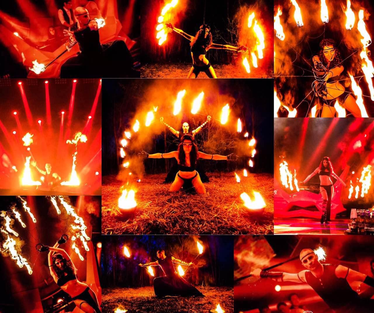 高端外籍创意杂技节目火舞