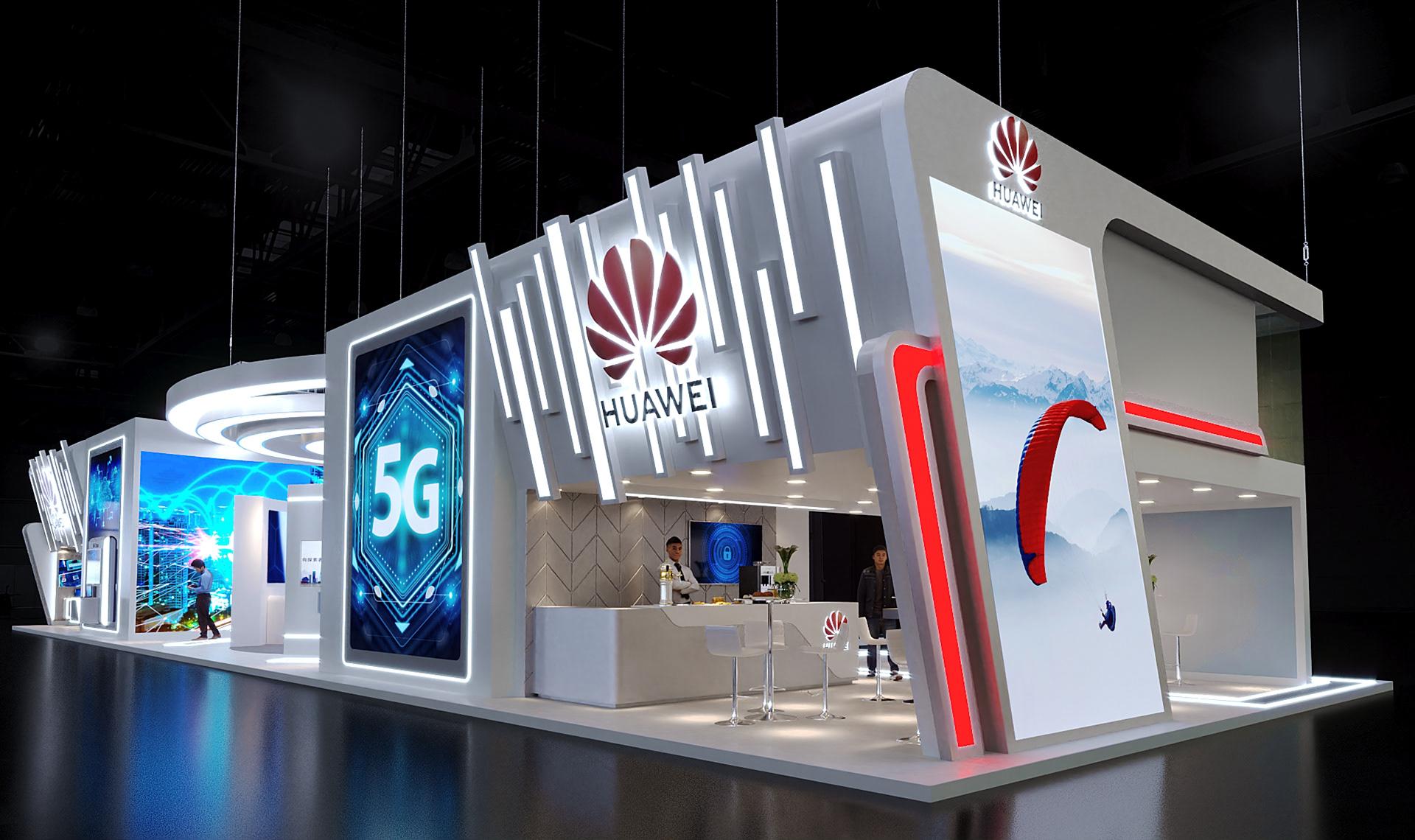 国际资讯_2019华为5G展台设计案例|文章-元素谷(OSOGOO)