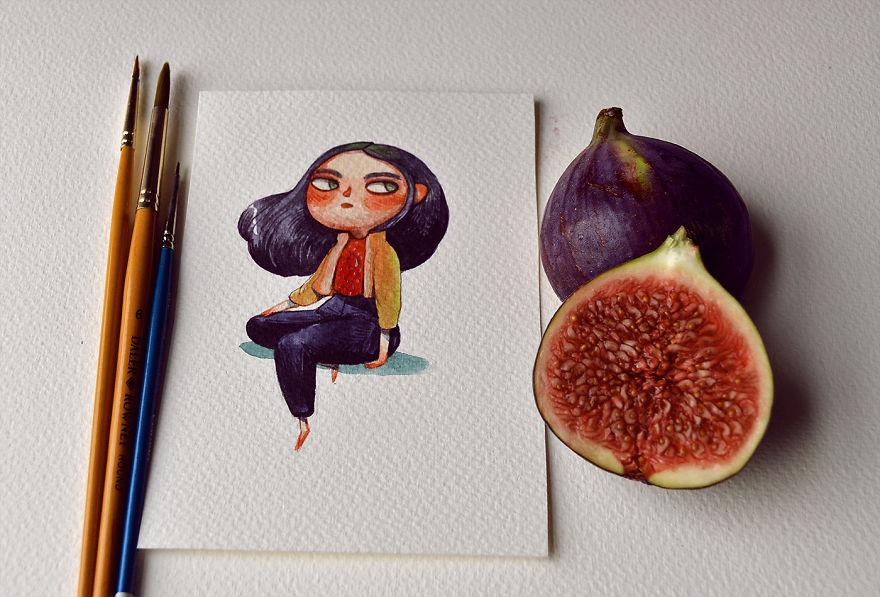 英国插画家的水果拟人化,叫我如何开口?