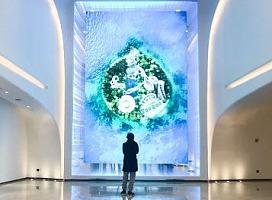 阿里未来酒店互动艺术画作