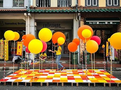 香港春季主题场景|气球丛林
