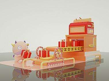 2020新年生肖牛IP形象设计-美陈