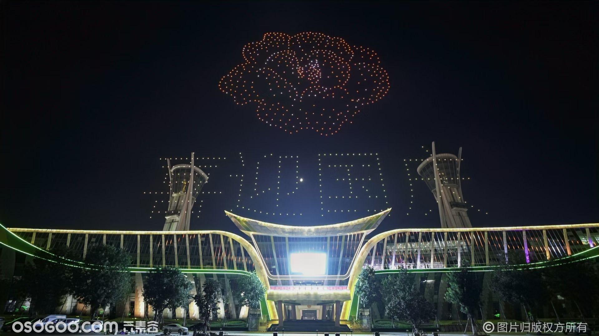 国庆节--潍坊室外无人机编队表演