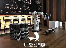倒咖啡机械臂 为客人提供全新的创意互动
