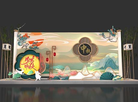中秋节美陈设计