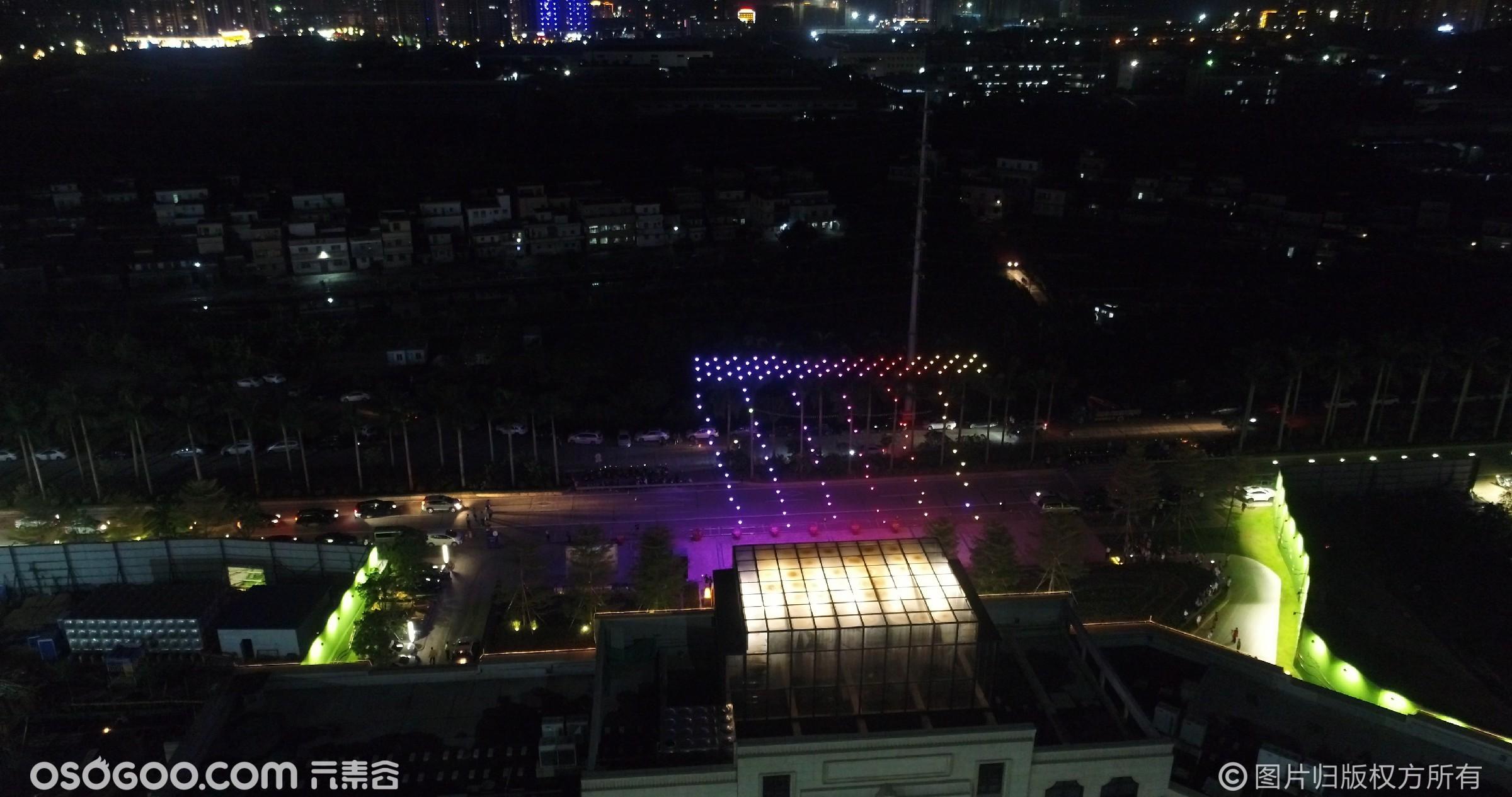 江门台州·无人机编队表演·200台