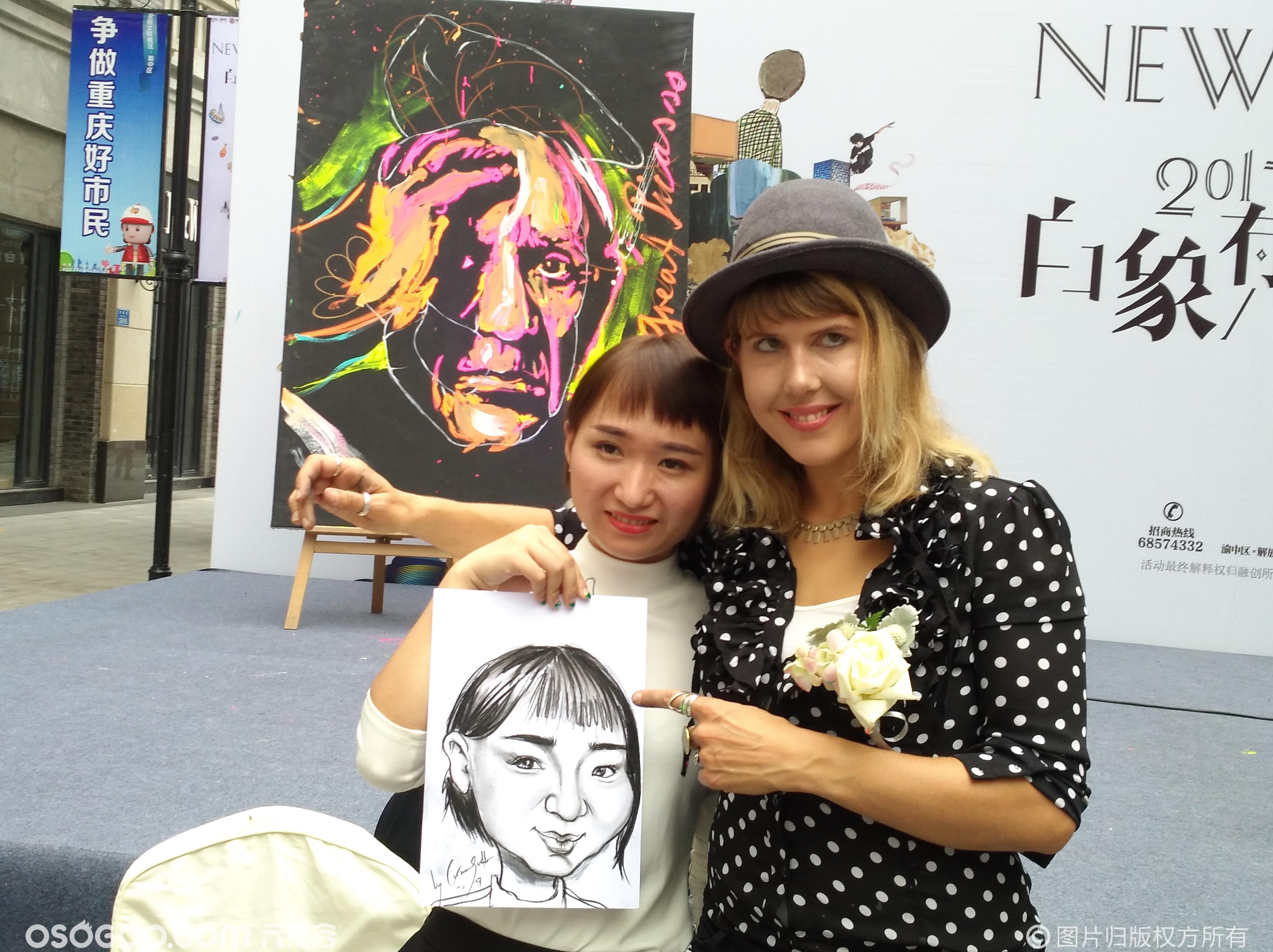 极速绘画表演艺术家科琳·萨特