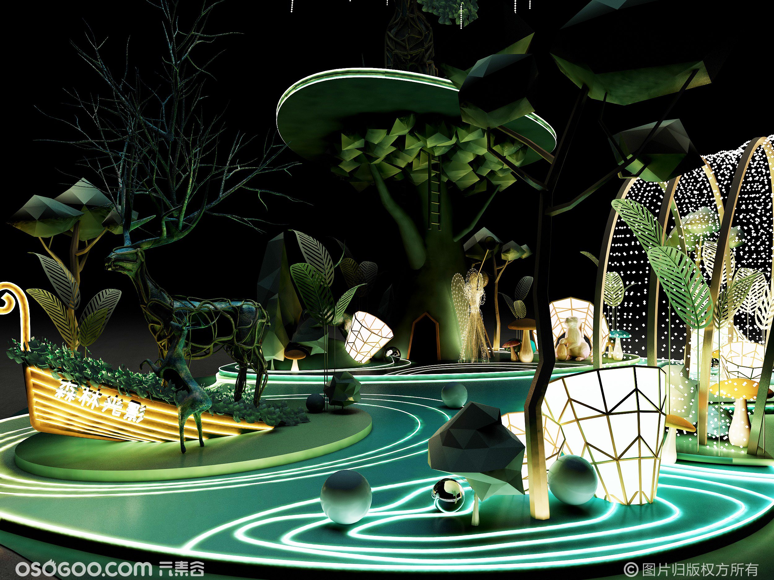 梦话森林打卡点     主题:梦幻森林