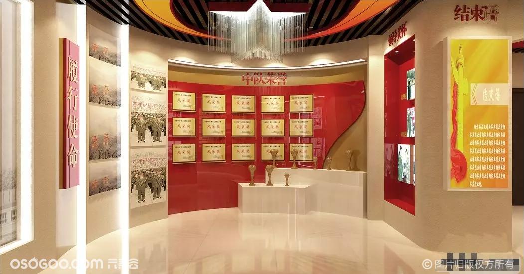 党建文化展厅展馆活动室荣誉室党群活动中心3d效果图设计制作