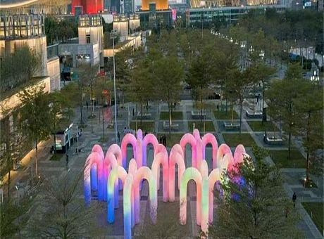 发光幻光拱门出租天空城堡出售流光触感效果震撼发光门租赁