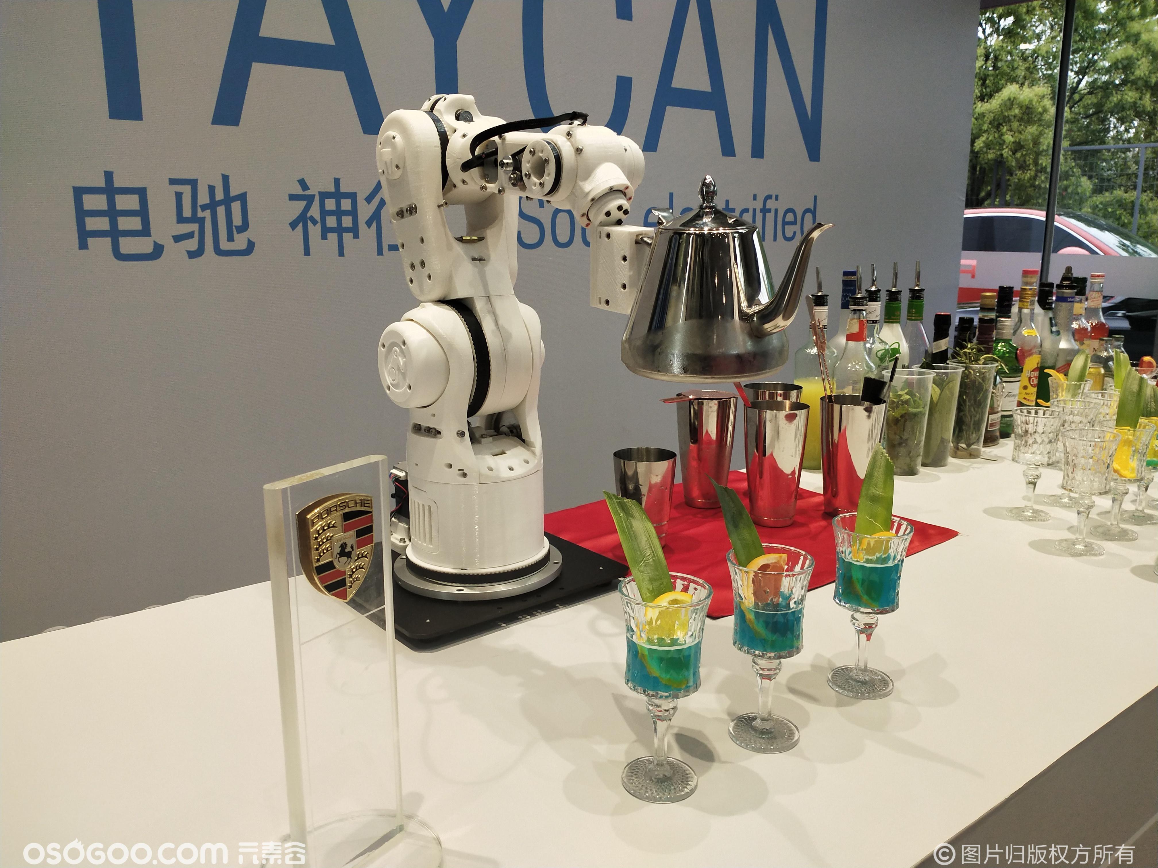 调酒机械臂 调咖啡机械臂 倒酒倒咖啡机械臂