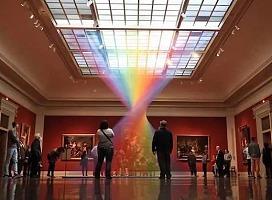 体验活动中的彩虹艺术装置