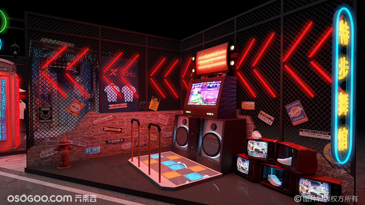 3D设计▪特步世界青少年街舞大赛创意打卡点