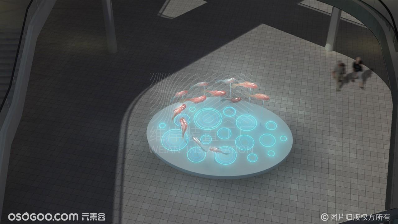 【鱼游而上】媒介交互装置美陈-维岸装置工厂出品