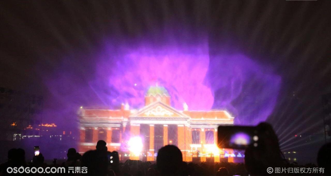 武汉水上光影大秀,水幕投影与裸眼3D结合展览展示