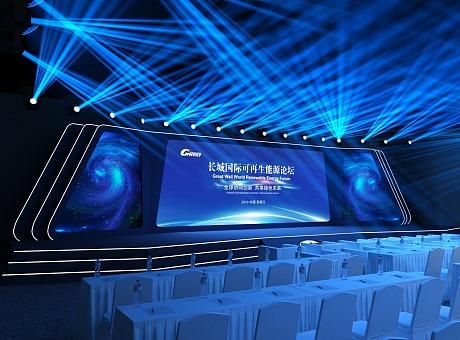 会议活动舞台效果图_舞美咖网