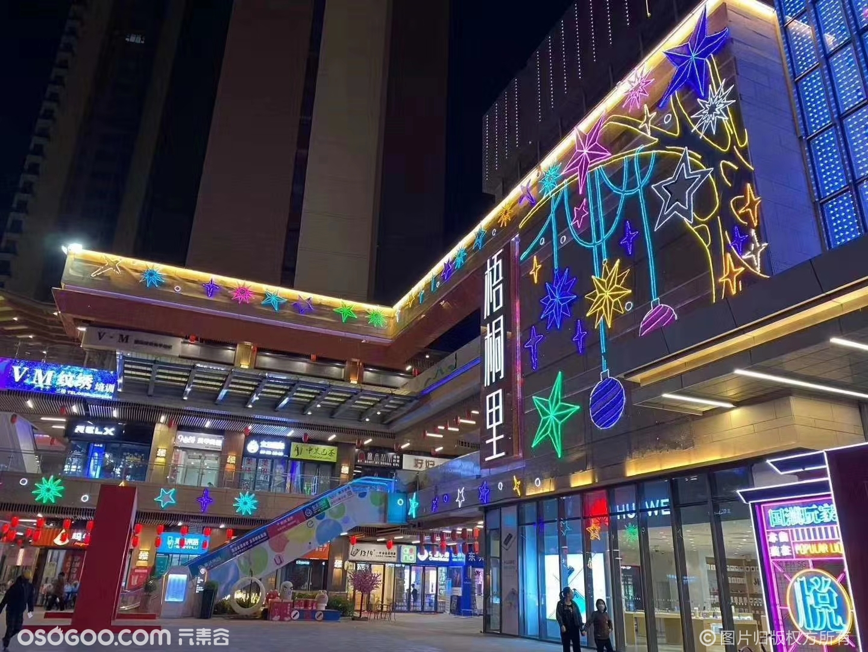 玻璃幕墙灯饰画出售发光装饰画街头亮化灯饰画源头厂家