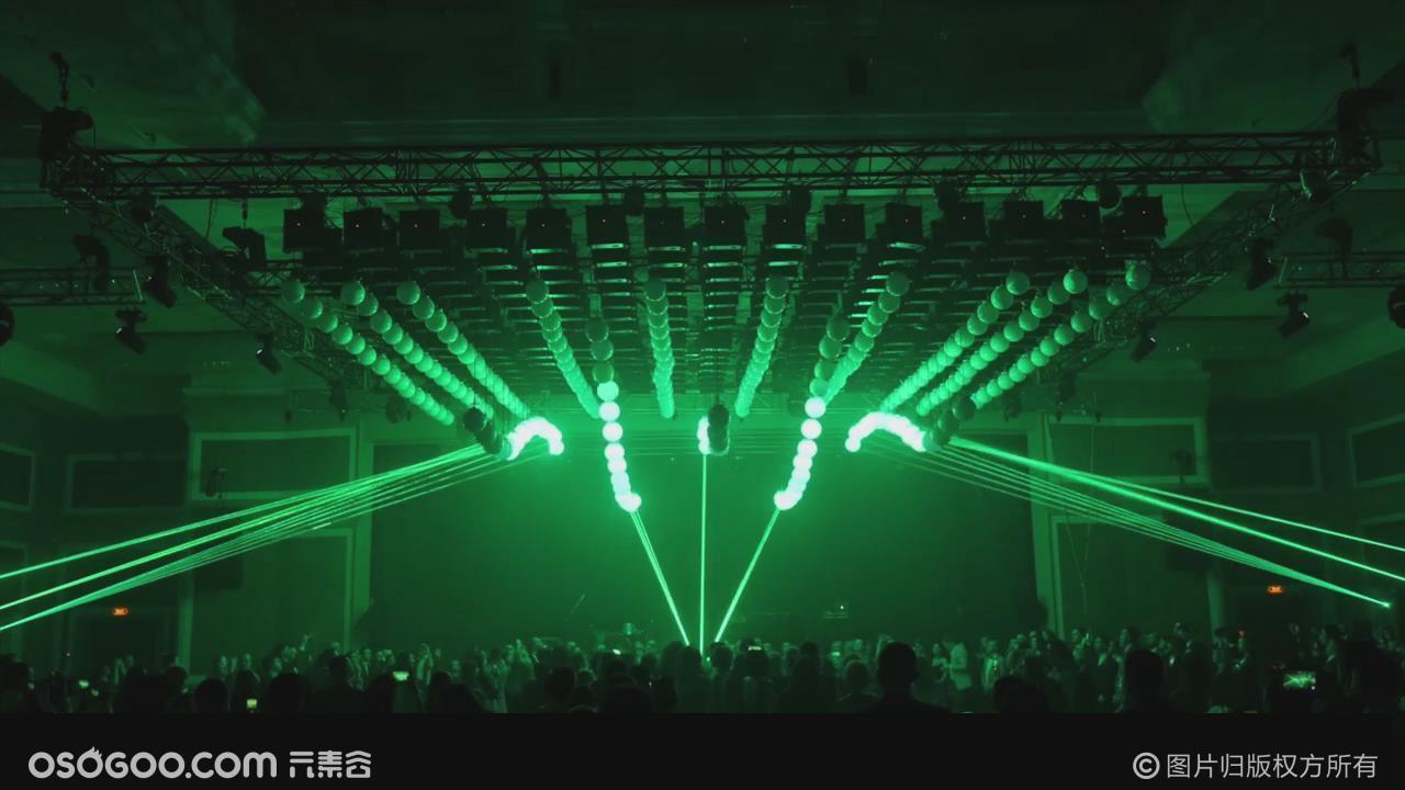 创意发布会开场秀创意表演激光与数控球完美结合