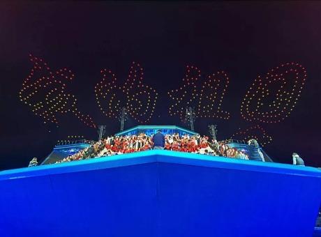 2020央视春晚粤港澳大湾区分会场无人机天幕秀