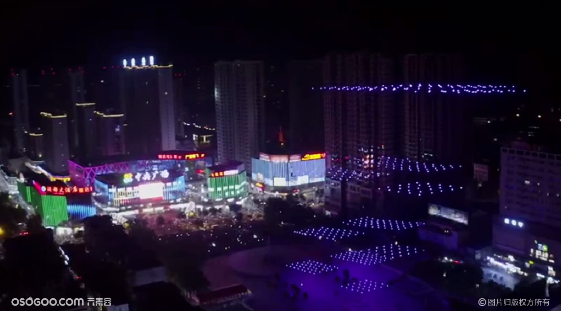 天空新媒体广告|500架无人机连续三天打卡蚌埠!