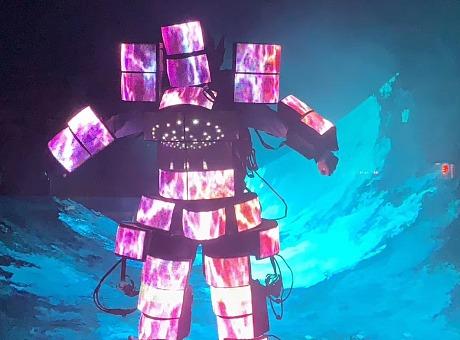 全面LED机器人  全面屏机器人 视频机器人