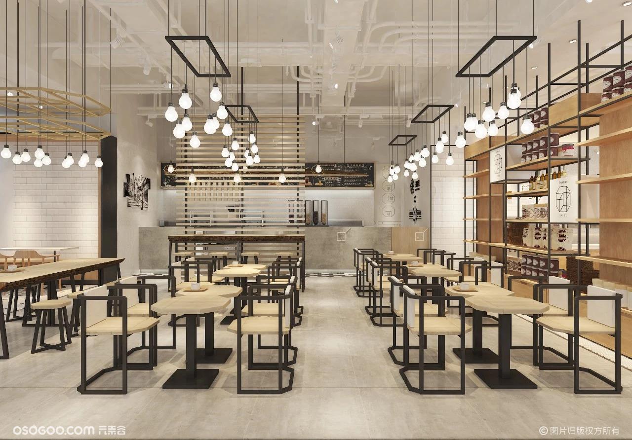 极简 复古风咖啡店设计