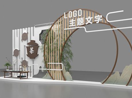新中式茶艺DP点位美陈设计