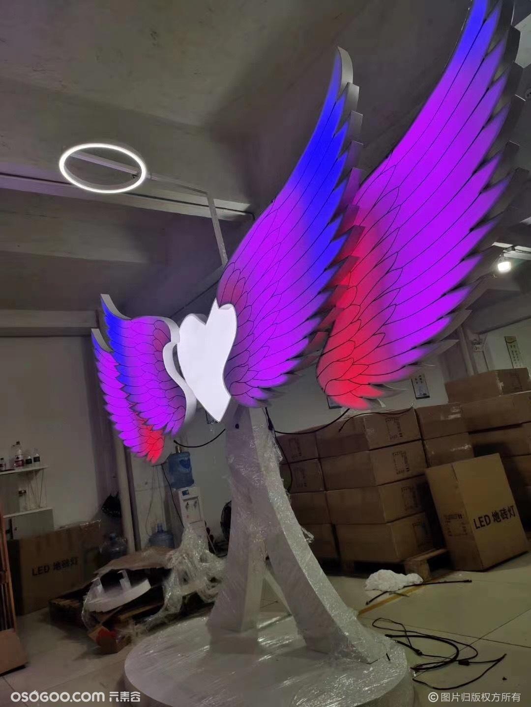 发光翅膀互动七彩变幻天使之翼厂家租售
