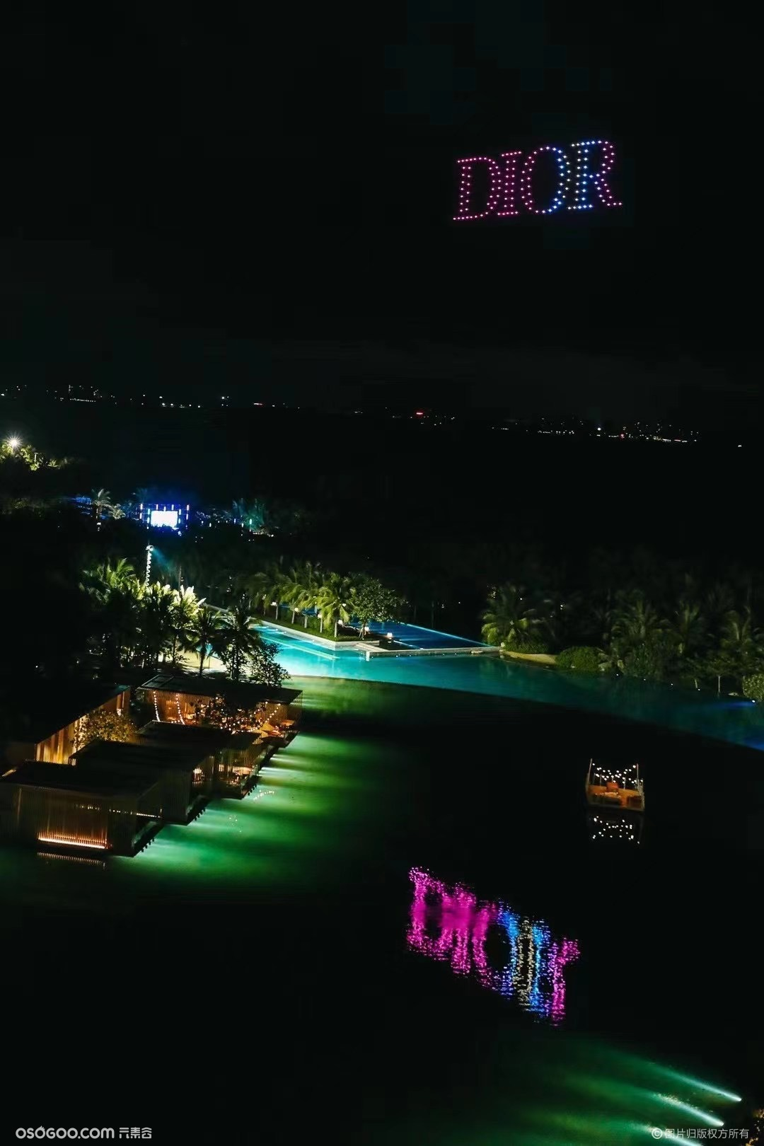 『不动•创意』 三亚 #迪奥# Dior无人机编队表演