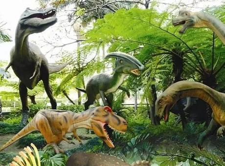 沉浸式恐龙展览 美陈 中庭布置  儿童节