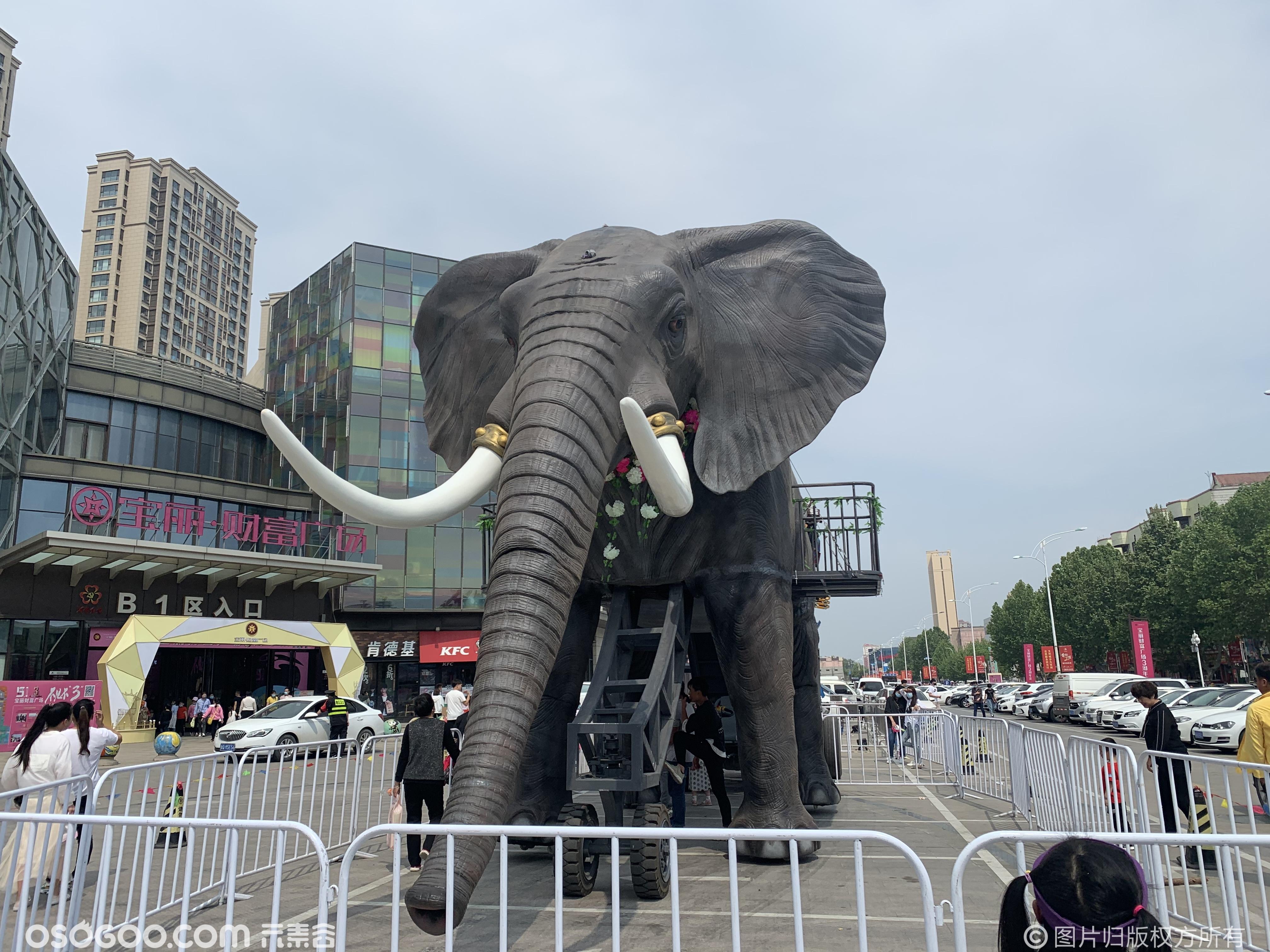 上古巨兽 巡游机械大象租赁 16米仿生巨型机械大象出租