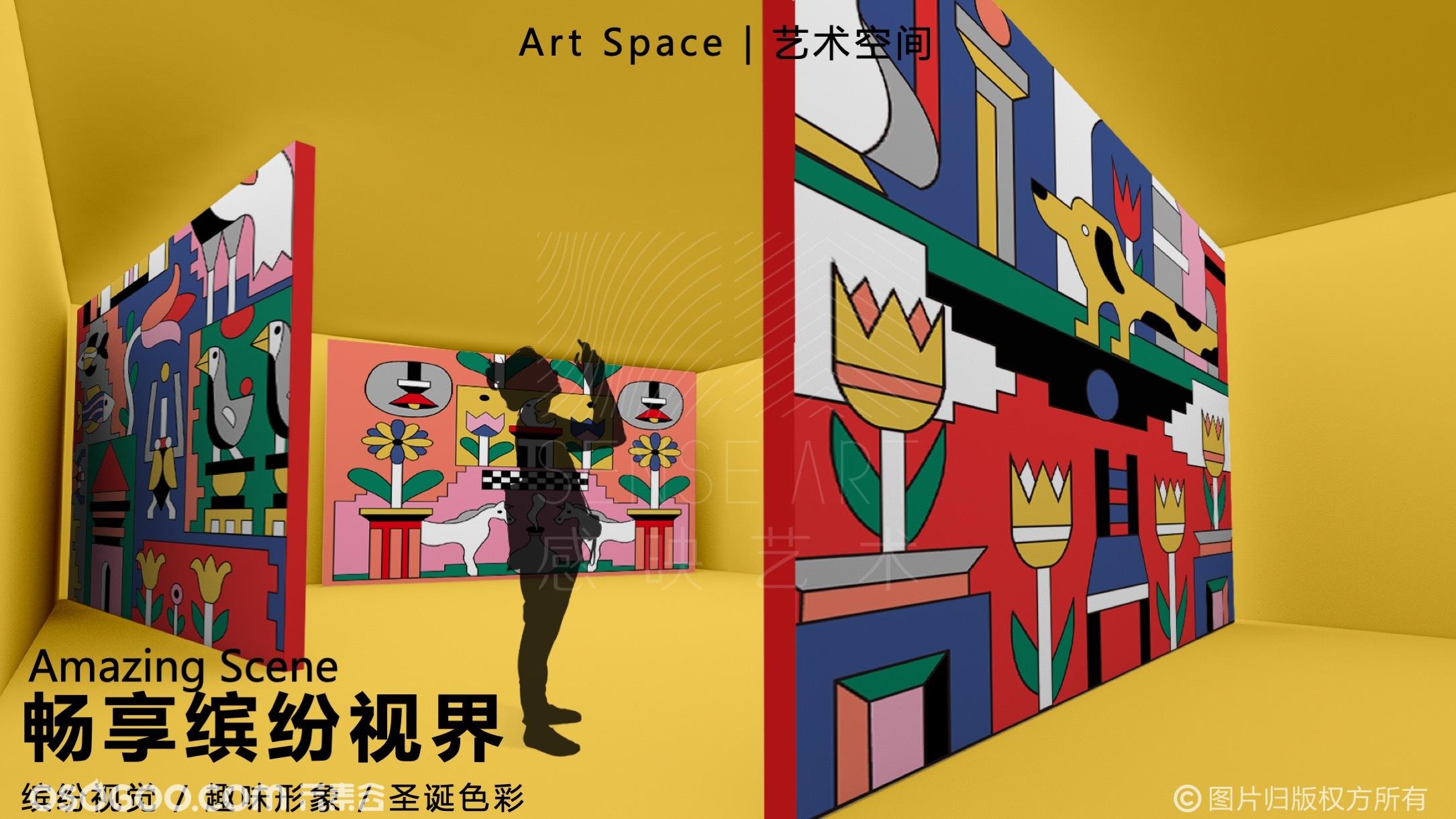 【幸好礼还在】荷兰艺术家圣诞几何艺术沉浸空间-感映艺术出品