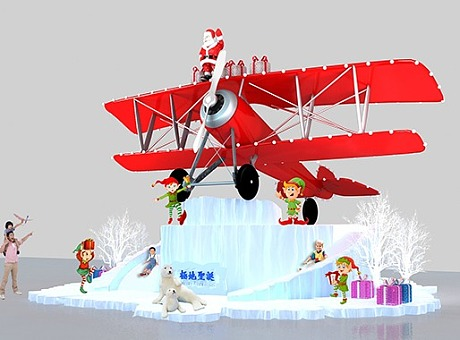 极地圣诞场景
