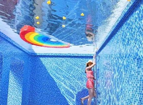 【公共空间艺术】梦幻泳池空间艺术展览活动装置