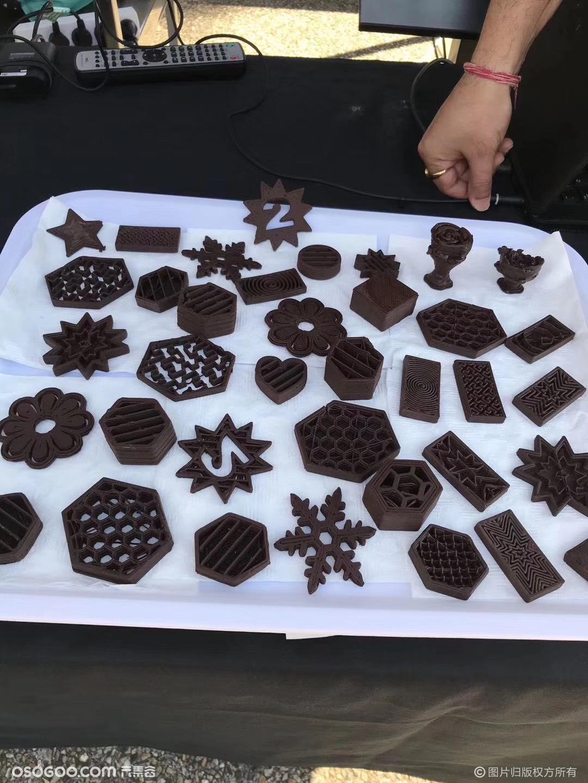 全国首款3D巧克力食品打印