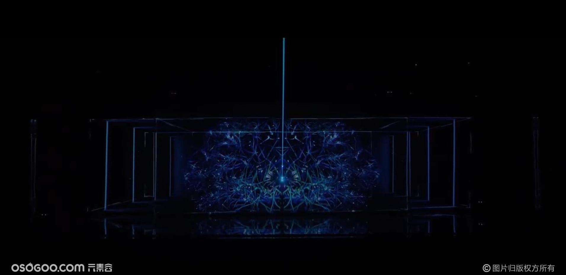 高端汽车发布会全息激光雕刻震撼科技开场表演