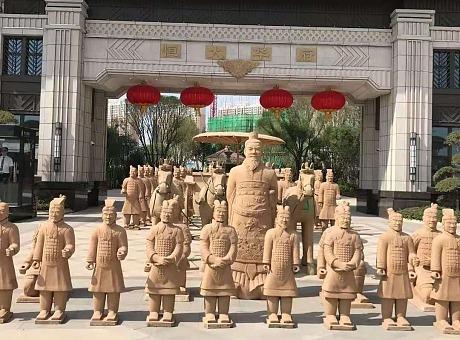古文化精仿一比一秦始皇兵马俑模型道具出租租赁