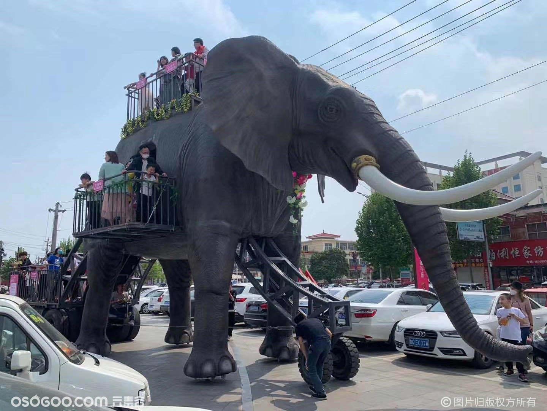 机械大象出租仿真机械大象巡游游街活动
