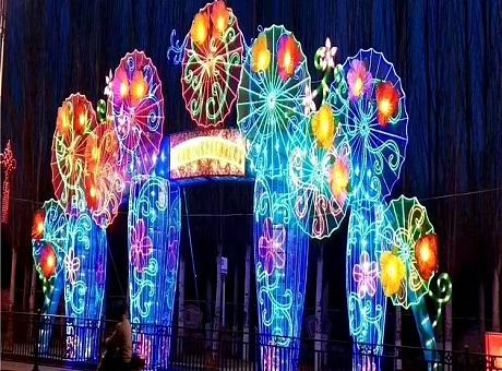 大型梦幻灯光展造型生产厂家灯光节款式定制加工灯光展出租租赁