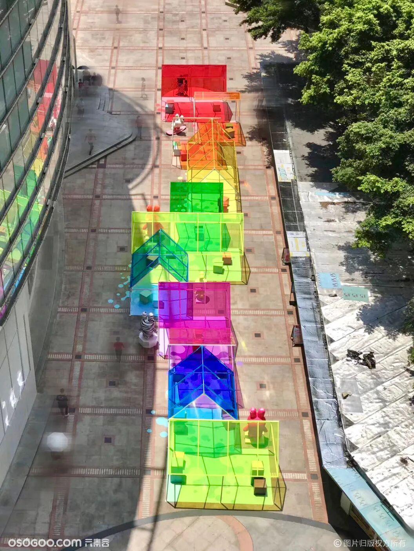 商场美陈 | 七色彩虹屋