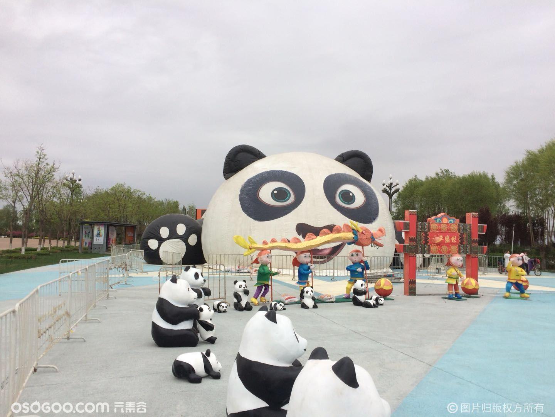 熊猫玻璃钢摆件