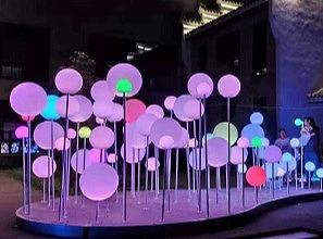 呼吸泡泡灯 灯光互动美陈装置 美陈互动展览道具