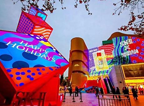 夜空彩虹案例 | 上海久光国际大牌绝美灯光美陈