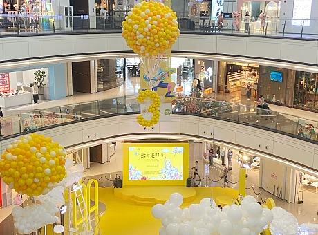 深圳坂田星河3周年庆典气球美陈布置气球氛围布置