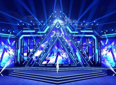 音乐节舞台 舞美效果图 舞美设计 3d效果图