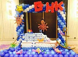 广州希乐顿逸林酒店  丽星邮轮活动气球装饰